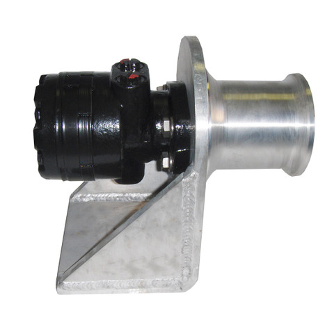 InMac-Kolstrand 4 Inch Capstan Winch with Weld-Down Style Aluminum Frame and Gypsy Head
