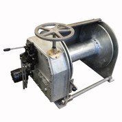 "InMac-Kolstrand Steel Galvanized - Single Reduction - 20 Inch Anchor Winch - With 20"" Diameter Drum X 20"" Wide - Model AKPHRW20D20W"