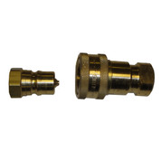 InMac-Kolstrand Brass Quick-Disconnect Coupler Assembly - Nose with Body - 1/2 Inch NPT - PC7