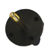 Kolstrand Nylon Mounting Flange With Brass Axle Installed into Flange, with S/S Pin - Piece 13ALH