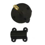 InMac-Kolstrand Nylon Mounting Flange With RH Threaded Brass Axle, S/S Pin and Nylon Cap-Sub Assembly - Piece 13LH