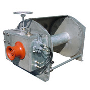 Kolstrand Steel Galvanized - Double Reduction - 33 Inch Anchor Winch - Model AKPHRW33D34WG with Capstan