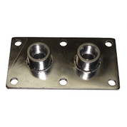 InMac-Kolstrand 1/2 Inch NPT Double Thru-Deck Fitting-Stainless Steel - - * * IN STOCK * *