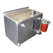 Kolstrand Aluminum Hydraulic Oil Reservoir-20 Gallon Capacity with Shut-off Valve, Drain Valve, Oil Level & Temperature Gauge, Return Line Filter and Fill and Vent