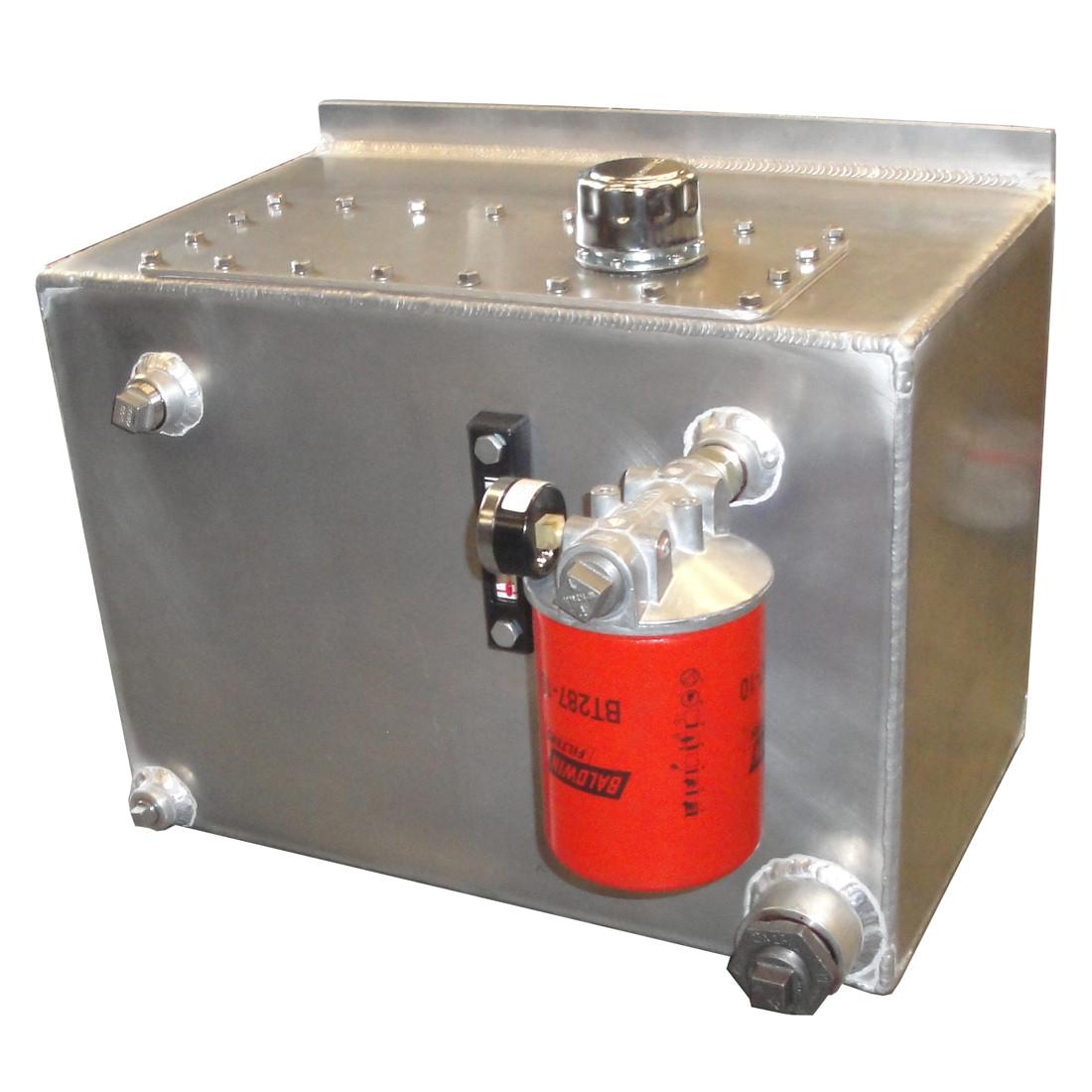 InMac-Kolstrand Aluminum Hydraulic Oil Reservoir-20 Gallon Capacity with  Shut-off Valve, Drain Valve, Oil Level & Temperature Gauge, Return Line