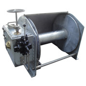 Kolstrand Steel Galvanized - Double Reduction - 34 Inch Anchor Winch - Model AKPHRW34D34W-No Capstan