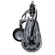 Kolstrand 26 Inch Power Block with PowerGrip and Hydraulic Swivel, Bolt-In Replaceable Cleat Sheave and CharLynn 6000 Motor, and with PowerGrip Control Panel