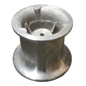 "Kolstrand 6"" aluminum capstan with 1-1/4"" bore and 5/16"" keyway"