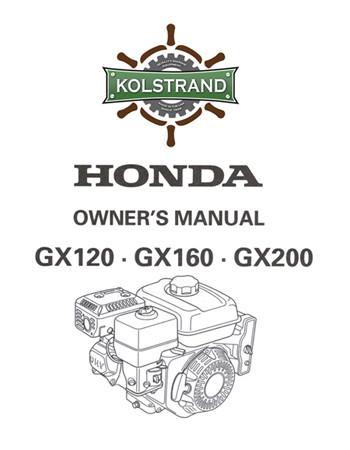 Honda Owners Manual >> Honda Gx120 160 200 Owners Manual Download Kolstrand