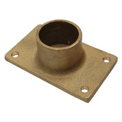 Kolstrand Heavy-Duty Brass Gurdy Davit Flat Bottom Socket