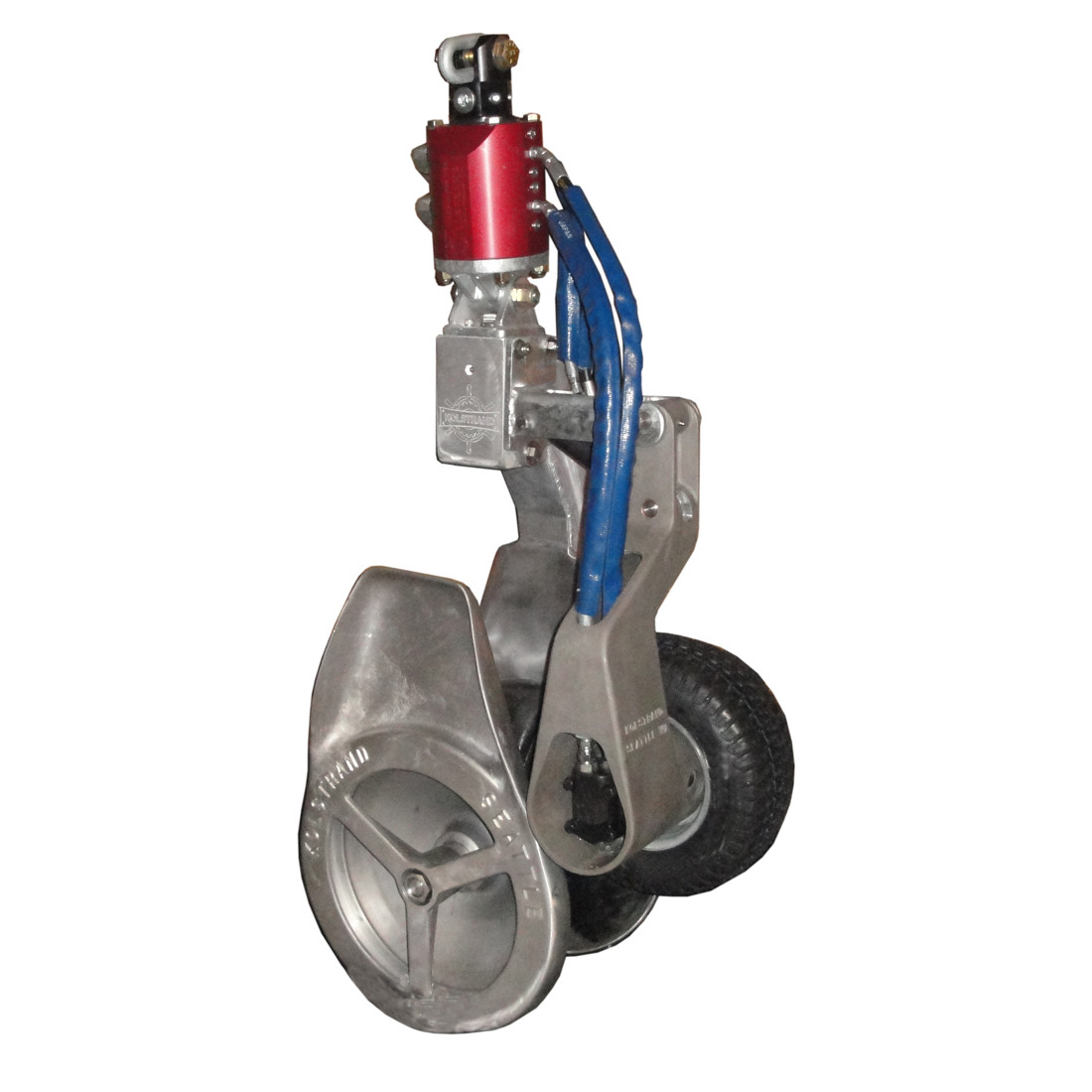 Kolstrand 20 Inch Power Block with Vulcanized Rubber Sheave and  Yoke-mounted PowerGrip with Hydraulic Swivel Arrangement and PowerGrip  Control Panel