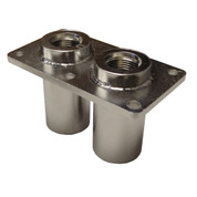 Kolstrand ORB #12 Double Thru-Deck Fitting-Stainless Steel