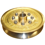 "Kolstrand 15"" Bronze Sheave Set - One Male Sheave Half and One Female Sheave Half"