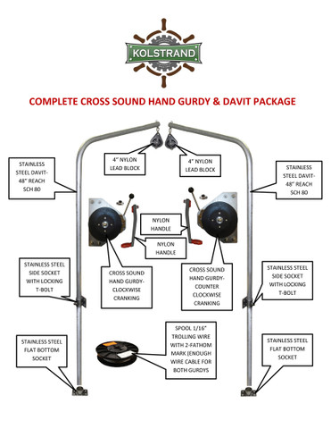 CROSS SOUND 2-Speed Hand Gurdy - Complete Package