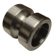 "InMac-Kolstrand 2N-S SeaCatcher Stainless Steel Idler Roller - 5"" Diameter"
