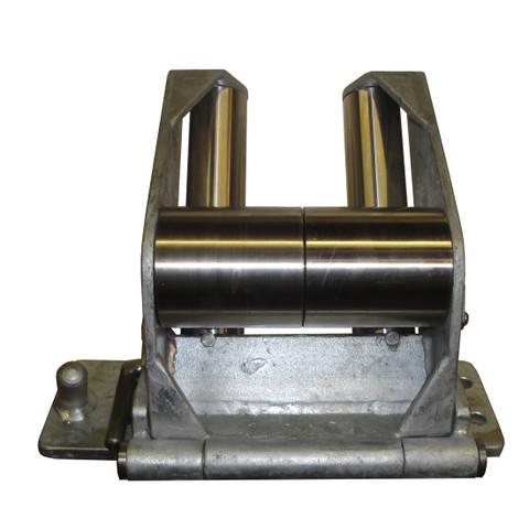 Kolstrand 'CAPTURED-4' RAIL-MOUNT Flip-Style Galvanized Steel Frame Seine Davit Roller Assembly