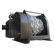 "Kolstrand Steel Flame-Sprayed - Double Reduction - 40 Inch Anchor Winch - Model AKPHDAW40D30W With capstan with 220 Feet 1-1/4"" Cable Plus 100 Feet 1-1/4"" Stud Link Chain spooled onto the Drum"