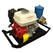 Kolstrand Honda-VTM Hydraulic Power Unit - 5 H.P. Hydraulic Power Unit (HPU) - WITH STEEL POWDER-COATED EZ CARRY BASE