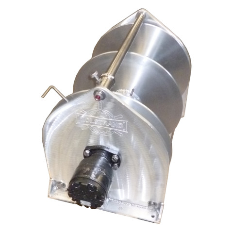 Kolstrand 18 Inch 'SPREADER-BAR' Aluminum Anchor Winch - With 18 In Diameter X 20 In Wide Drum with SPLITFLANGE