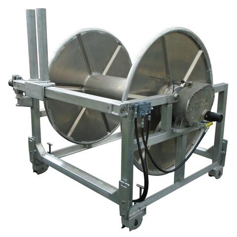 Kolstrand Gillnet Drum Assembly with Kolstrand AK Gearbox Drive and Automatic Diamond Screw Level Wind