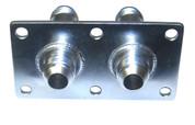 JK Fab #8 JIC Double Thru-Deck Fittings - Stainless Steel