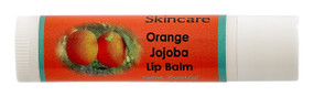 Orange Jojoba Lip Balm. New, .15 oz, All Natural