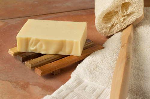 Unscented Jojoba Oil Soap, All Natural, 4 oz, over 19% pure golden jojoba oil, low lather and low suds soap