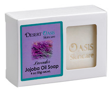 Jojoba Oil Soap mildly scented with Lavender, All Natural, 4 oz, over 19% jojoba oil, low lather and low suds soap