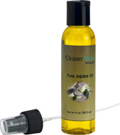 Pure Golden Jojoba Oil, 4 fluid oz (118 ml), Cold Pressed, Not deodorized, All natural with spray applicator, Grown and pressed in USA