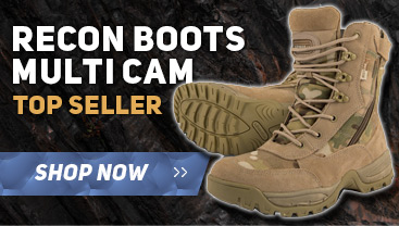 military boot & army clothing with also a full range