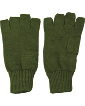 Fingerless Gloves in olive green