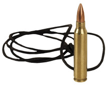 762 Brass bullet leather Necklace