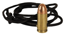 9mm Brass bullet leather Necklace