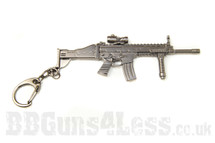 Scar rifle Keyring in solid metal