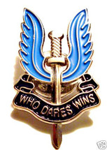 "SAS Enamel pin ""WHO DARES WINS"" badge"