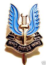 "SAS Enamel pin ""WHO DARES WINS"" badge"