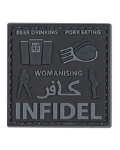 Tactical Patch Pork Infidel in Black