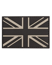 Tactical Patch PVC Union Jack Patch in Black