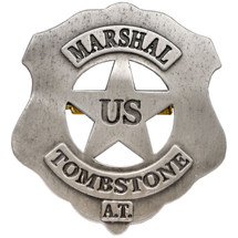 Us Marshall Tombstone Badge