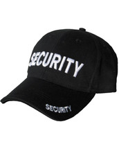 Security Baseball Cap Hat in black