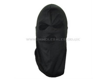 Thin 3 hole balaclava - black