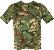 Kombat Adult Size T-shirt in British dpm camo