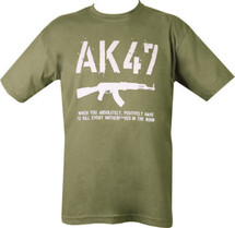 Kombat AK47 T-Shirt - When you have to kill every mother fk in the room
