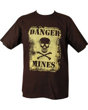Kombat Danger Mines T shirt in Black