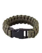 Kombat Expandable Paracord Bracelet with whistle in black