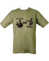 Kombat Scissors Beat Paper T-shirt in Green