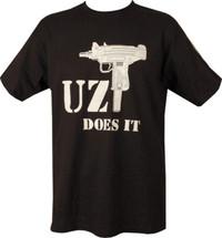 Kombat  Uzi Does It T-Shirt in Black