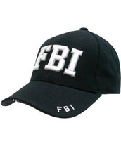 Kombat Baseball Cap FBI in Black