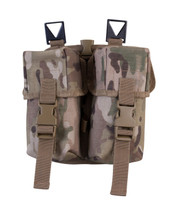 Kombat Double Ammo Pouch -PLCE- in Multicam