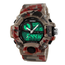 G Style Army Digital Rubber Sports Wrist Watch in Desert Camo
